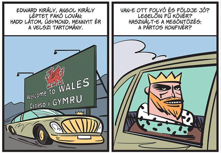 Arany János: A walesi bárdok képregémy