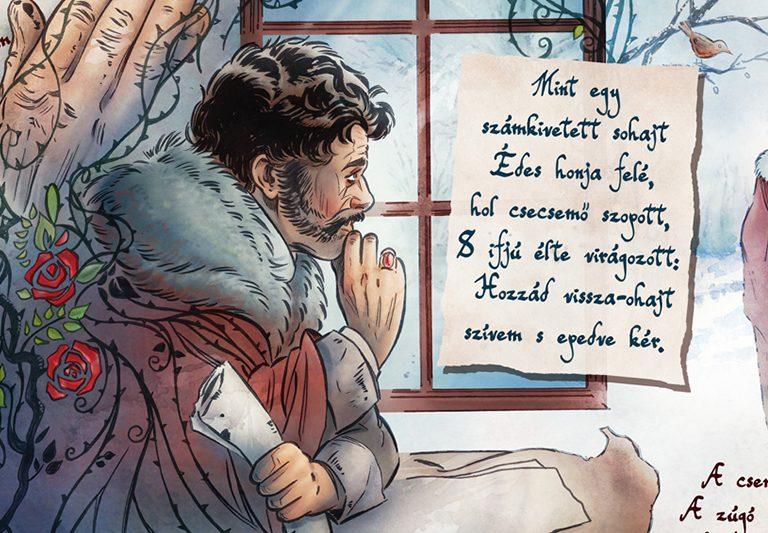 Berzsenyi Dániel: Az első szerelem vers képregény formában